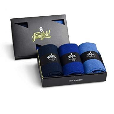 VON JUNGFELD - 3er Box - Modische Socken für Individualisten