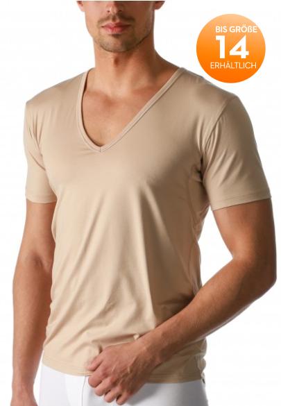 MEY - Dry Cotton Functional T-Shirt mit V-Ausschnitt