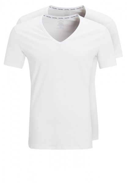 2 Cotton Stretch V-Neck T-Shirts