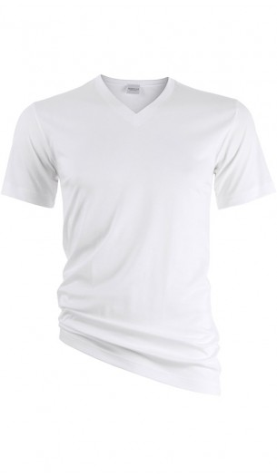 NOVILA - Luxury T-Shirt - V-Ausschnitt