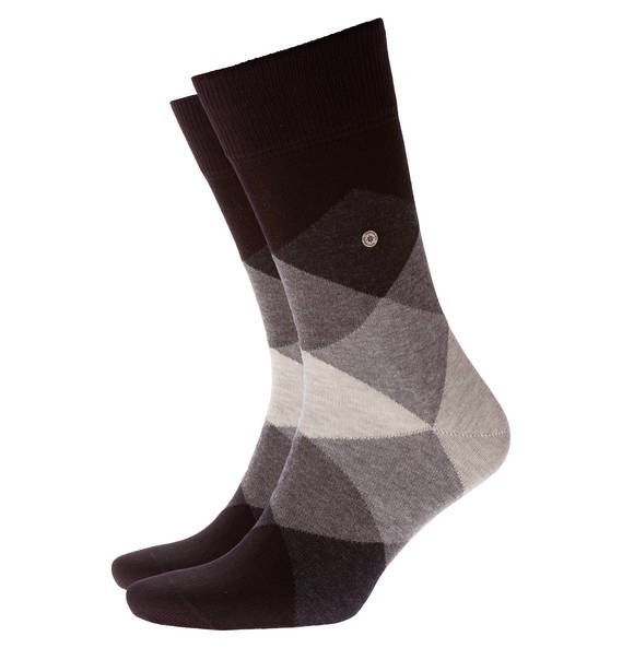 BURLINGTON - Clyde Socken mit modischem Argyle-Muster