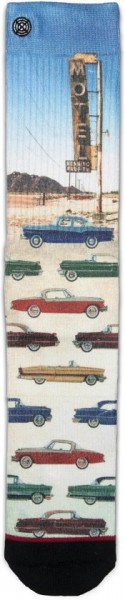 Fashion Socken mit Kunstmotiven - car at motel