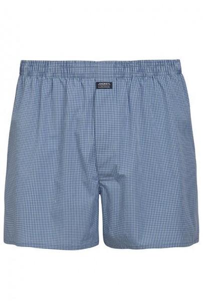 100% Cotton Boxershorts - blau-kariert