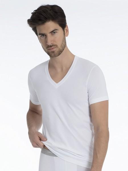 EVOLUTION V-Neck-T-Shirt aus Pima-Baumwolle