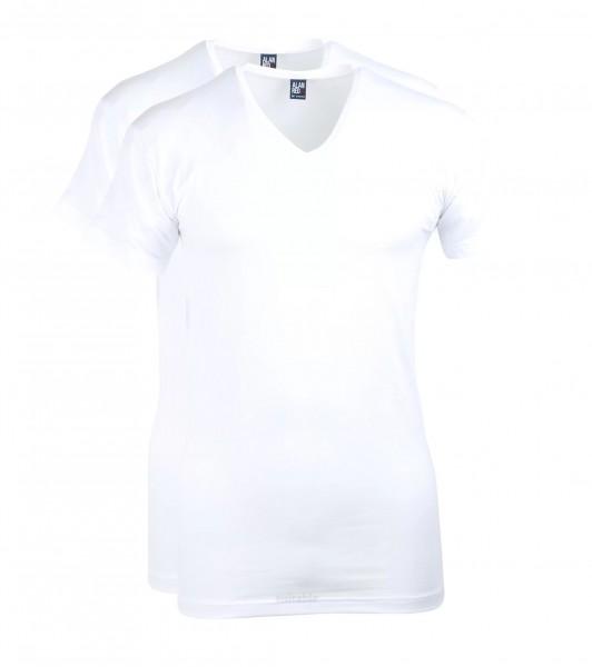 ALAN RED - 2 Slim Fit T-Shirts mit V-Ausschnitt