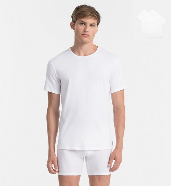 CALVIN KLEIN - 2 Cotton Stretch Crew Neck T-Shirts
