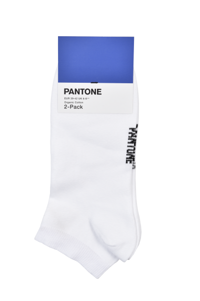 PANTONE - Organic Cotton Sneakersocken 2-Pack